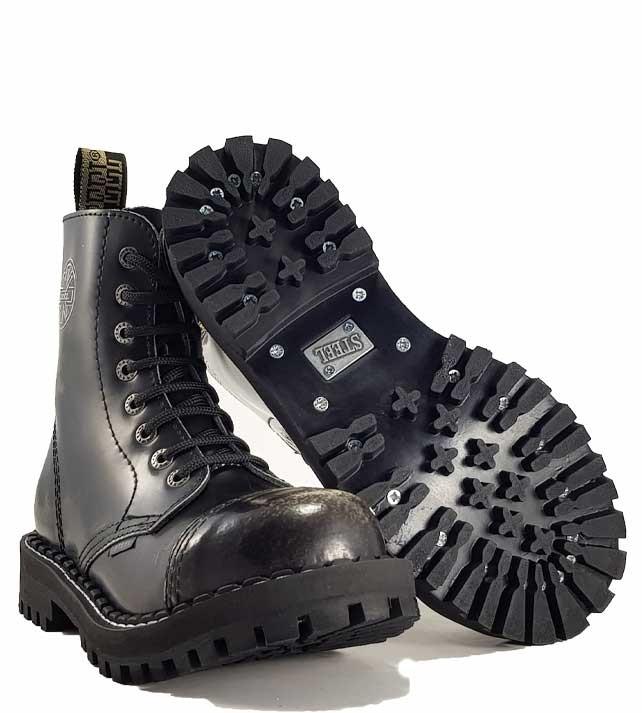 Topánky Steel 8-dierkové - biele stierané - Steel obuv 071213eaeb