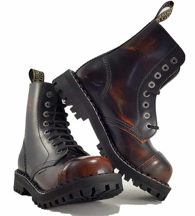 832988ccfc906 Topánky Steel 8-dierkové - oranžové stierané - Steel obuv