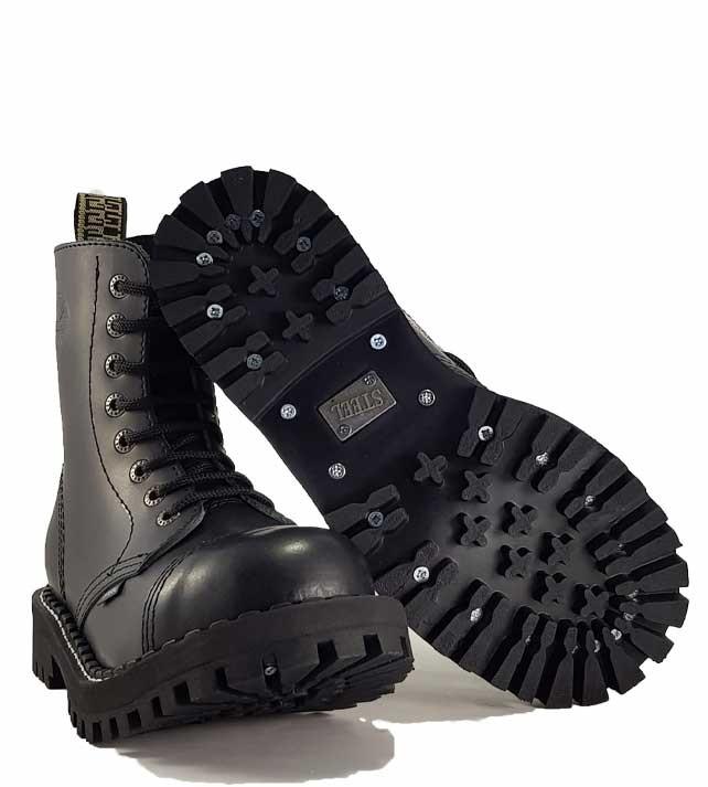 Boty Steel 8-dírkové - černé - Steel obuv 49a7de2d96