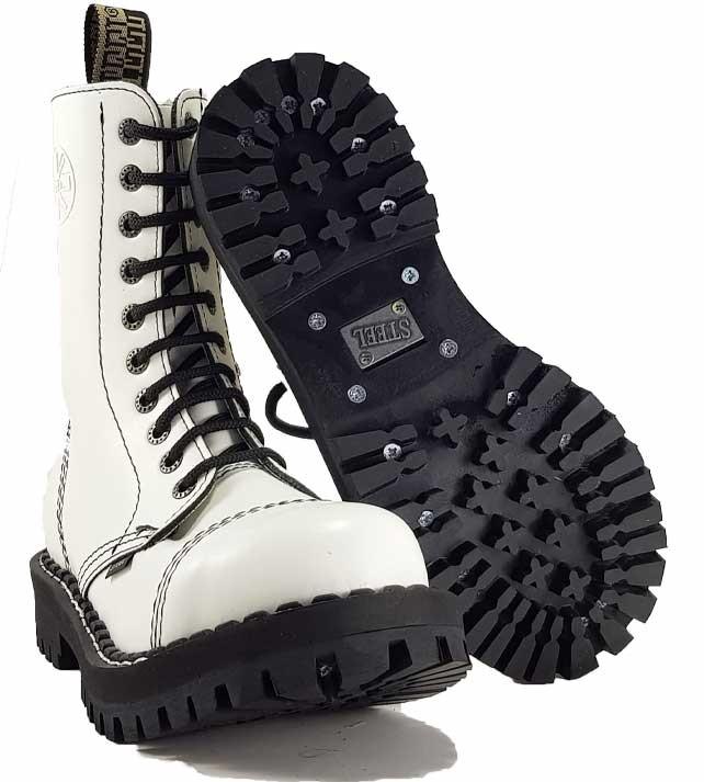 Topánky Steel 10-dierkové - biele - Army a outdoor vybavenie aca5a1fbf8f