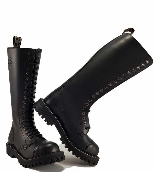 62b10830a27 Boty Steel 20-dírkové - černé - Steel obuv