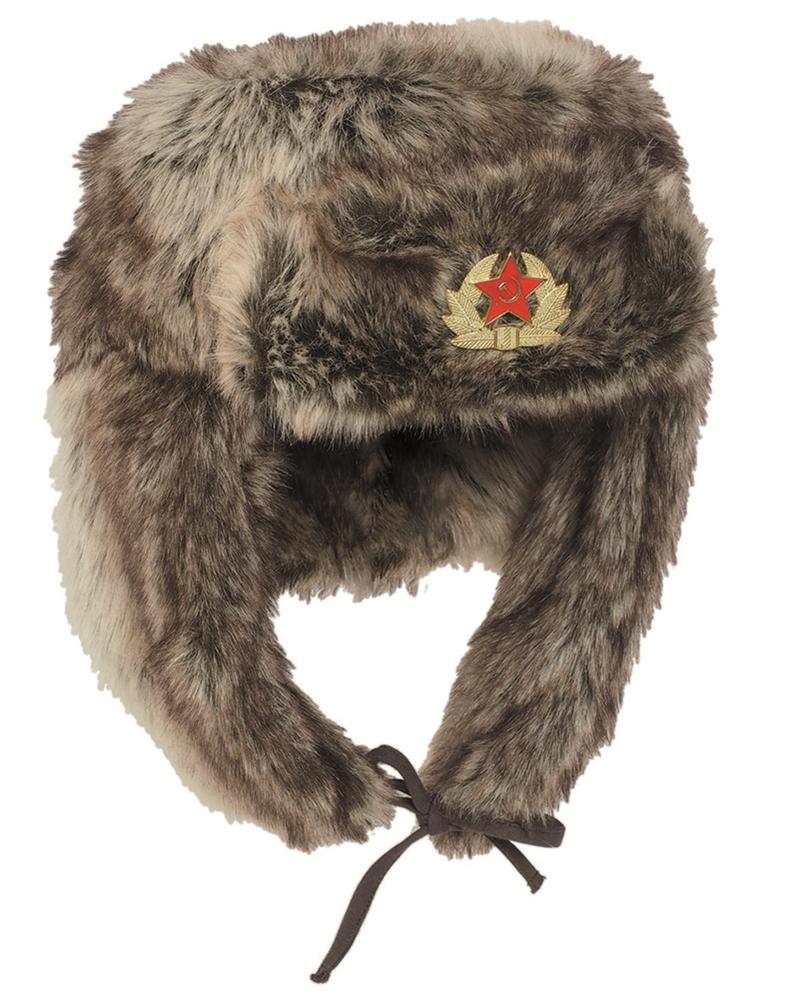 638121ec2 Ruská baranice Shapka - hnedá - Army a outdoor vybavenie