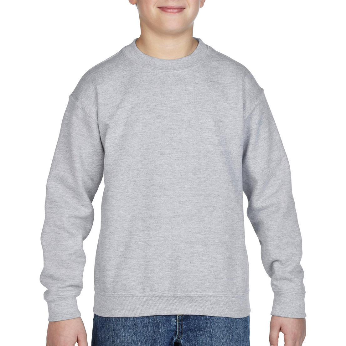 Mikina dětská Gildan Heavyweight - šedá