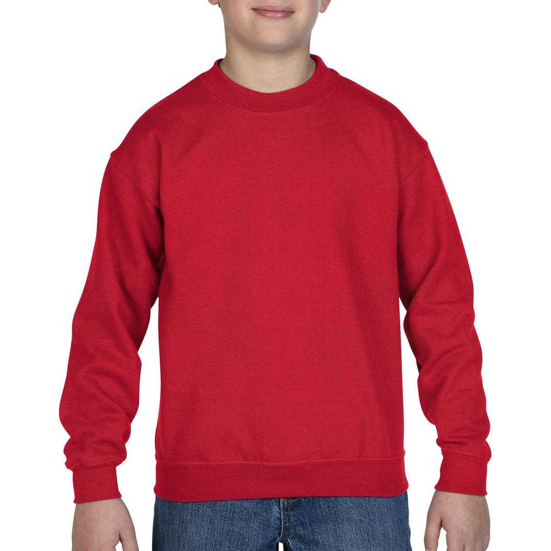 Mikina dětská Gildan Heavyweight - červená