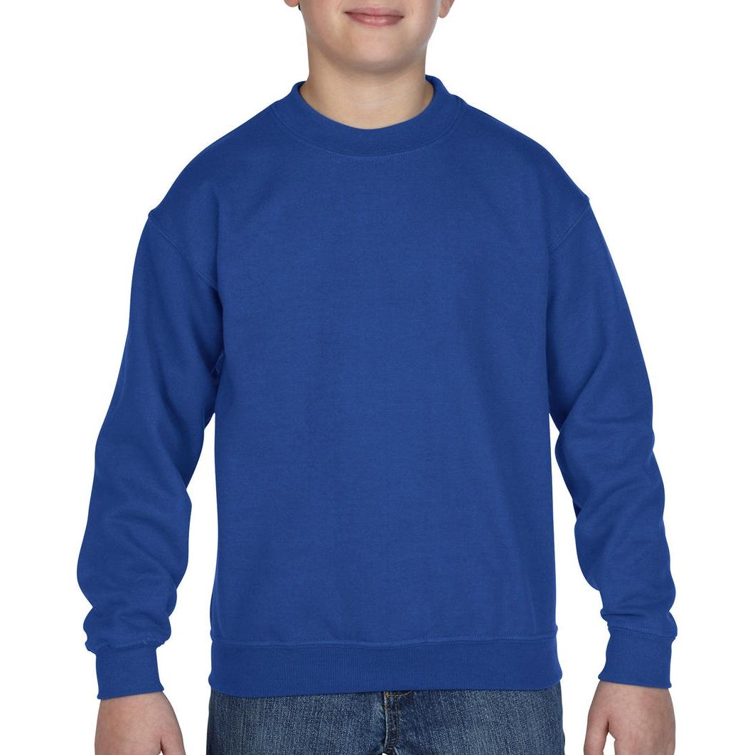 Mikina dětská Gildan Heavyweight - modrá
