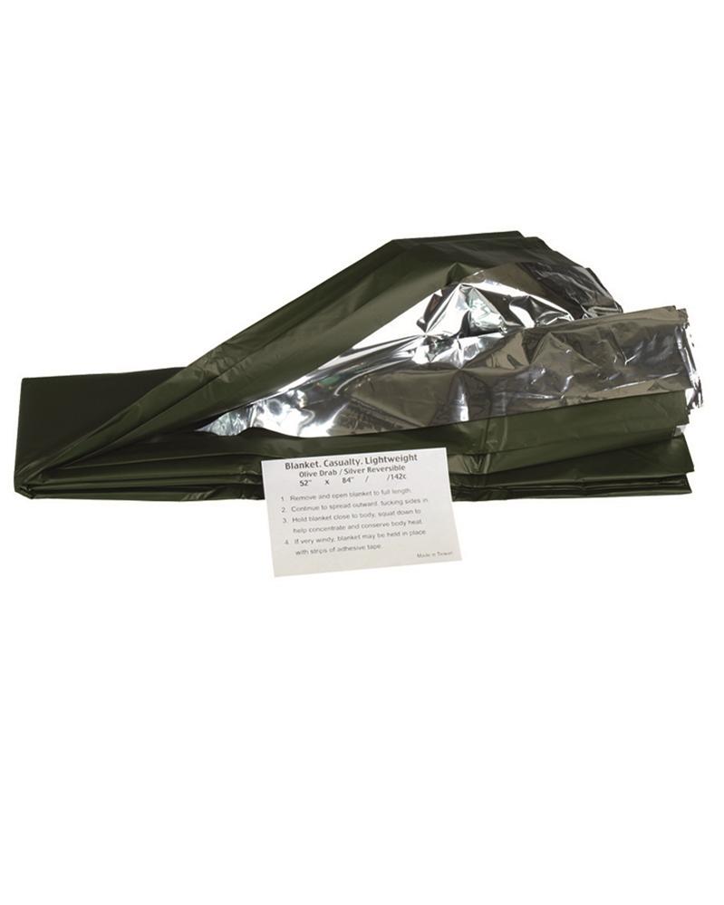 Záchranná thermo folie Mil-Tec 215 x 130 cm