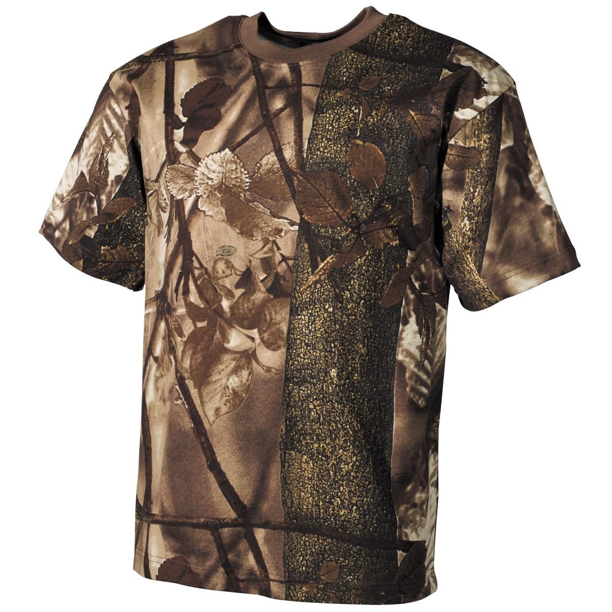 Tričko s krátkym rukávom MFH Hunter - hunter-brown, S