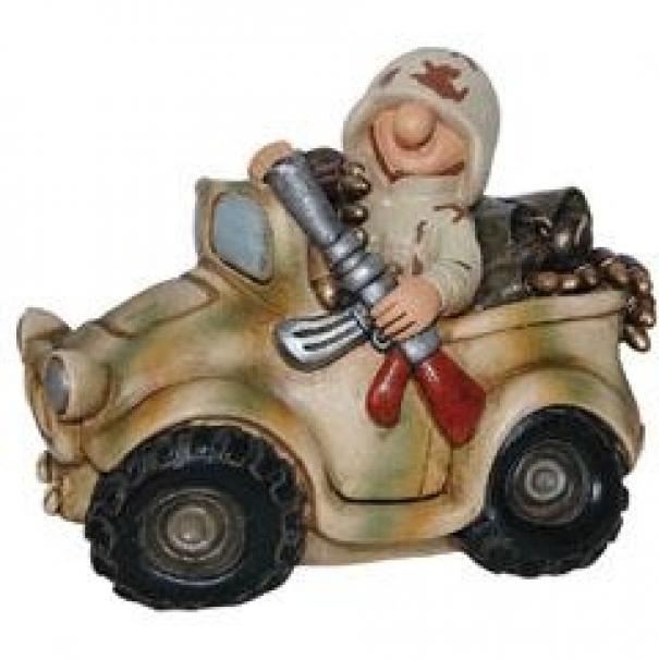 Model vojáka Money Jeep - desert