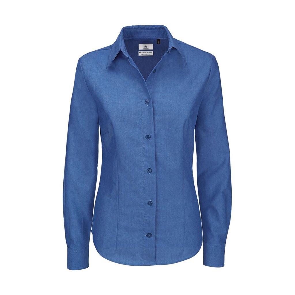 7ed5cad74d76 Košeľa dámska B C Oxford s dlhým rukávom - modrá - Army a outdoor ...