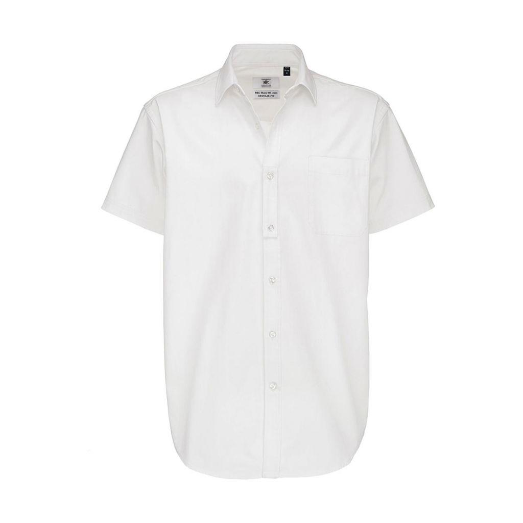 Košile pánská B&C Sharp Twill s krátkým rukávem - bílá
