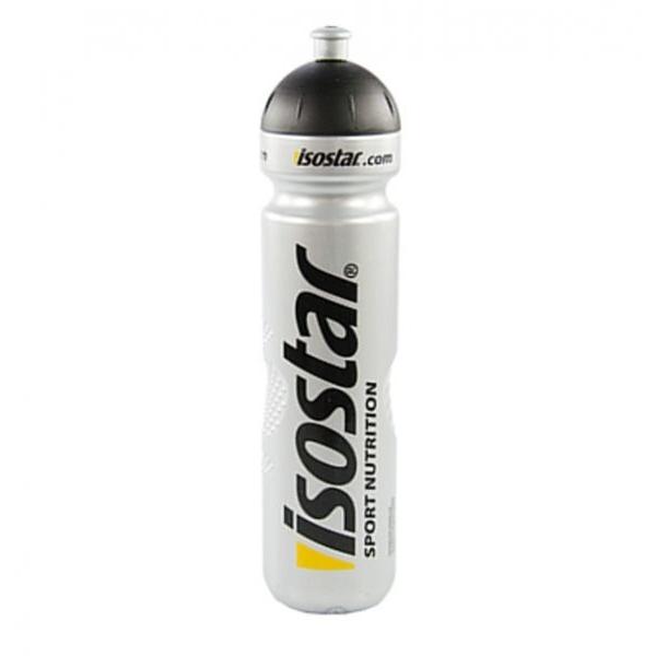 Láhev Isostar Push 1 l - stříbrná