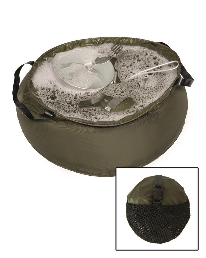 Nádoba mycí skládací Mil-Tec 10 l - olivová