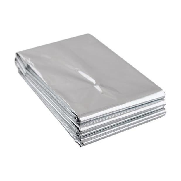 Přikrývka/folie v nouzi k udržení teploty Emergency - stříbrná