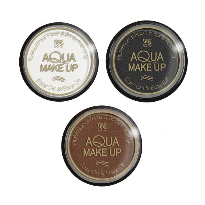 Barva na obličej a tělo Aqua Make Up - bílá