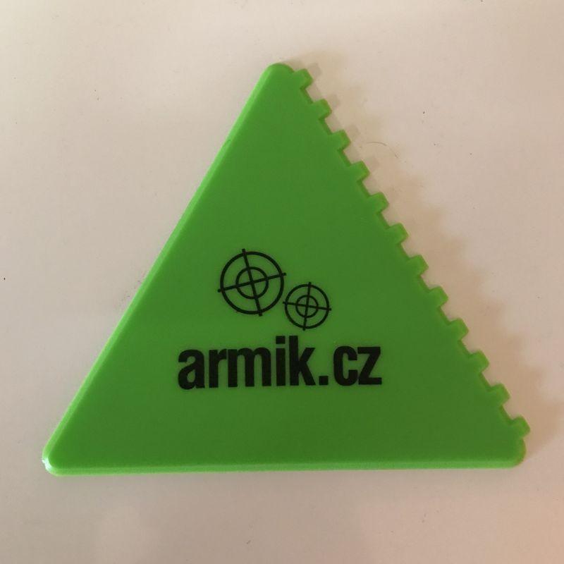 Autoškrabka Armik.cz - zelený