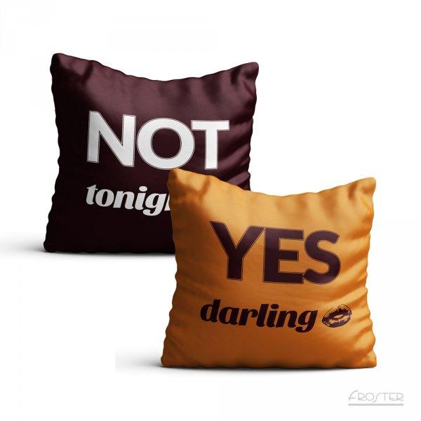 Povlak na polštář YES/NO