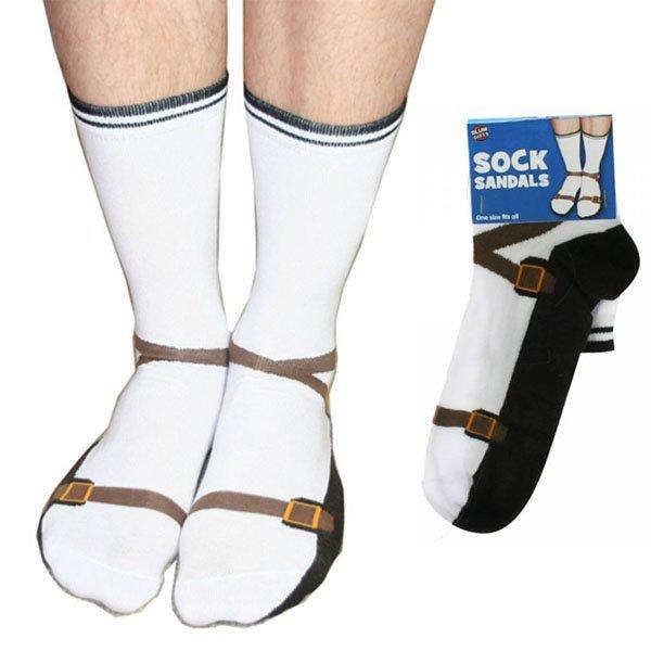 Bláznivé ponožky Sandále