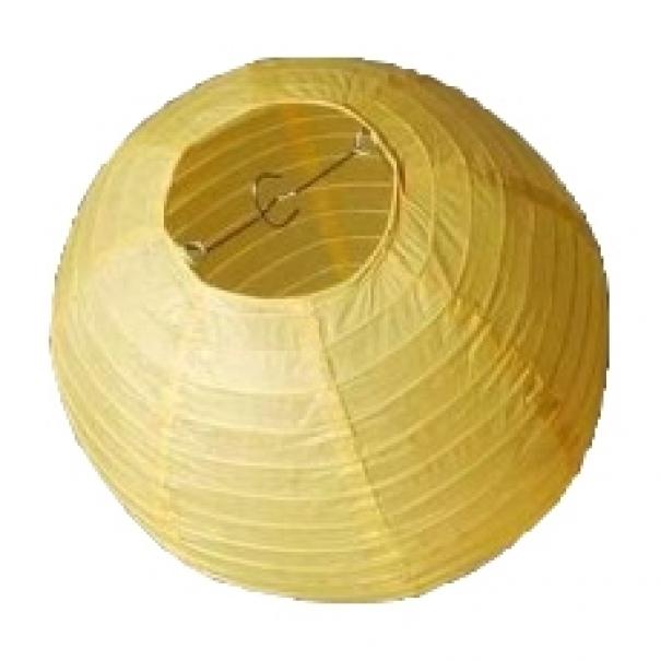 Závěsný lampion koule - žlutý
