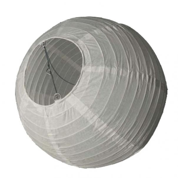 Závěsný lampion koule - bílý