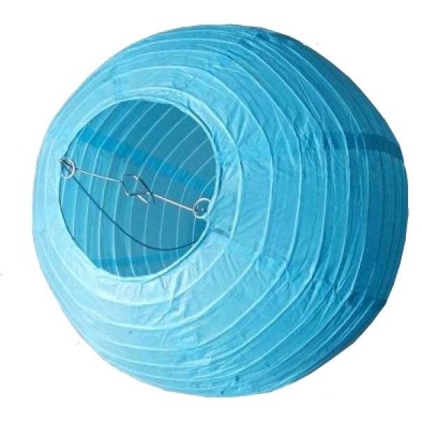 Závěsný lampion koule - modrý