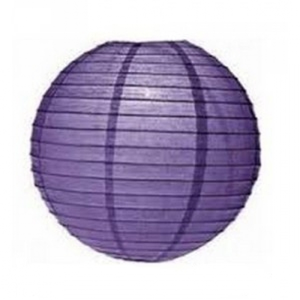 Závěsný lampion koule - fialový