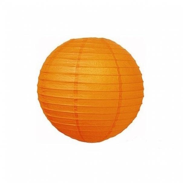 Závěsný lampion koule - oranžový