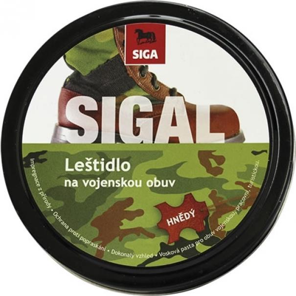 Leštidlo na vojenskou obuv Siga 100g - hnědé