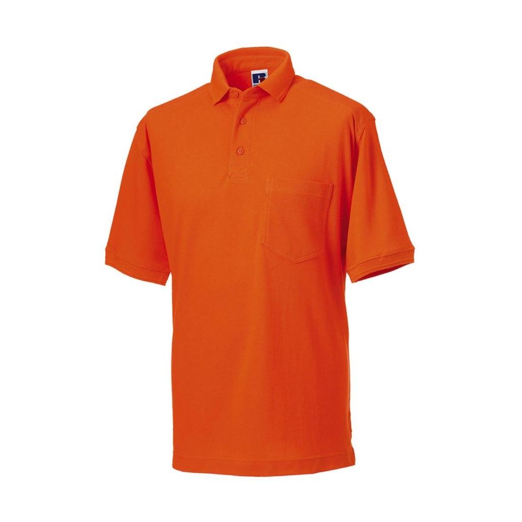 6953e09d2ede Pánska pracovná polokošeľa Russell - oranžová - Móda vo väčších ...