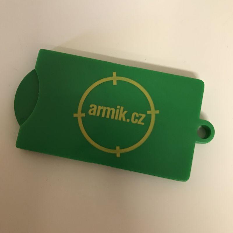 Přívěsek na klíče Armik.cz - zelený