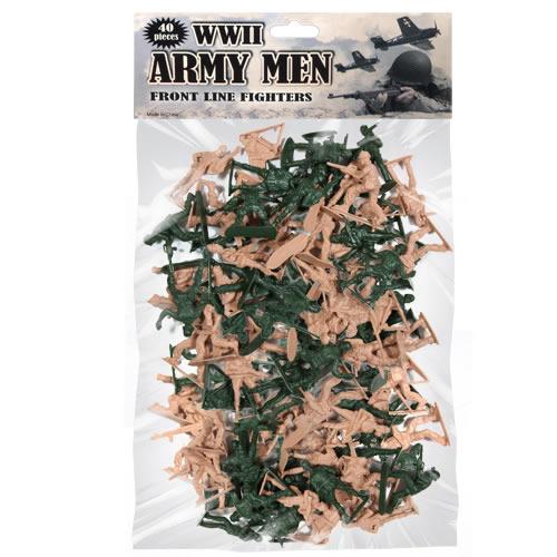 Hračky set 40 vojáků WWII