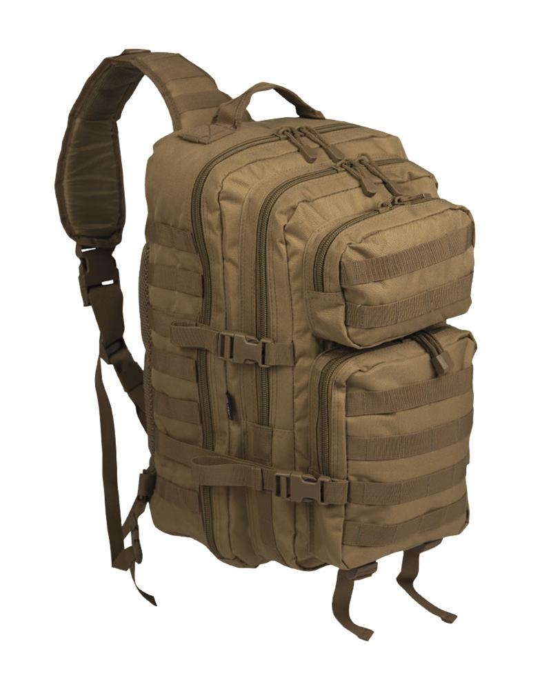 Batoh Mil-Tec US Assault L přes jedno rameno - coyote