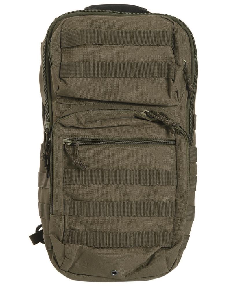 Batoh Mil-Tec US Assault L přes jedno rameno - olivový