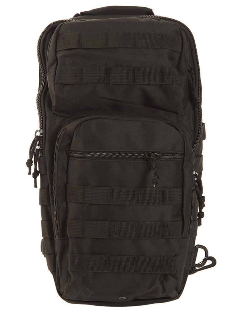 Batoh Mil-Tec US Assault L přes jedno rameno - černý