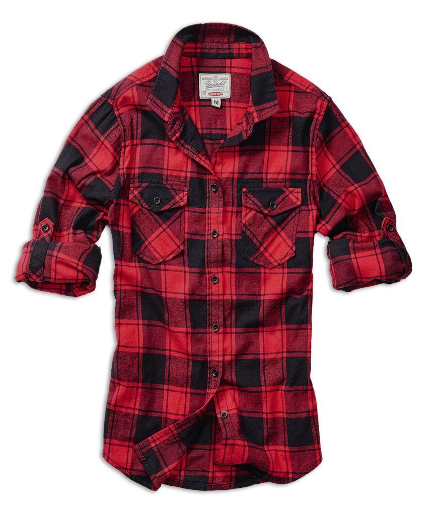 eb428ad46b49 Košeľa Brandit Amy Flanell - červená-čierna - Brandit Vintage