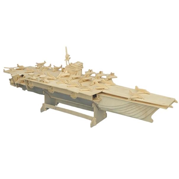 3D dřevěné puzzle Woodcraft Letadlová loď