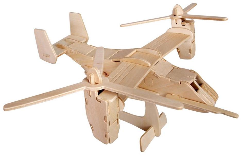 3D dřevěné puzzle Woodcraft Vrtulník V-22 Osprey