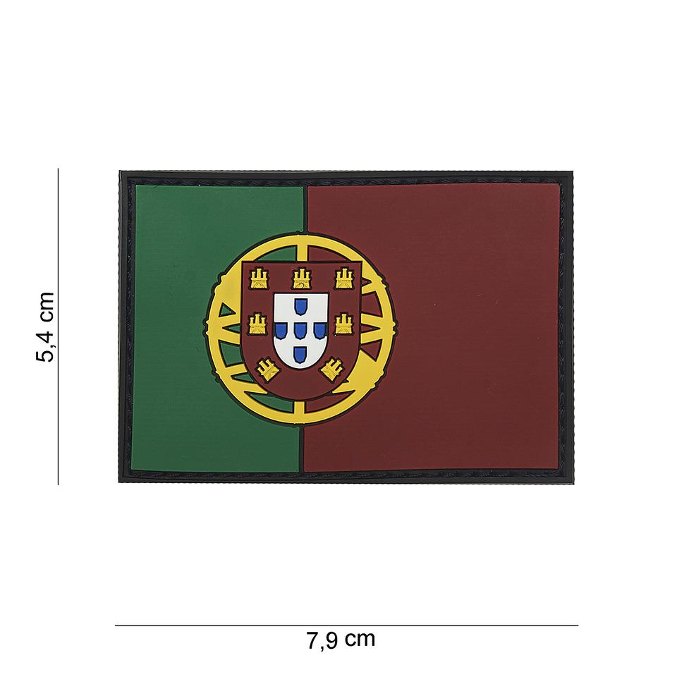 Gumová nášivka 101 Inc vlajka Portugalsko