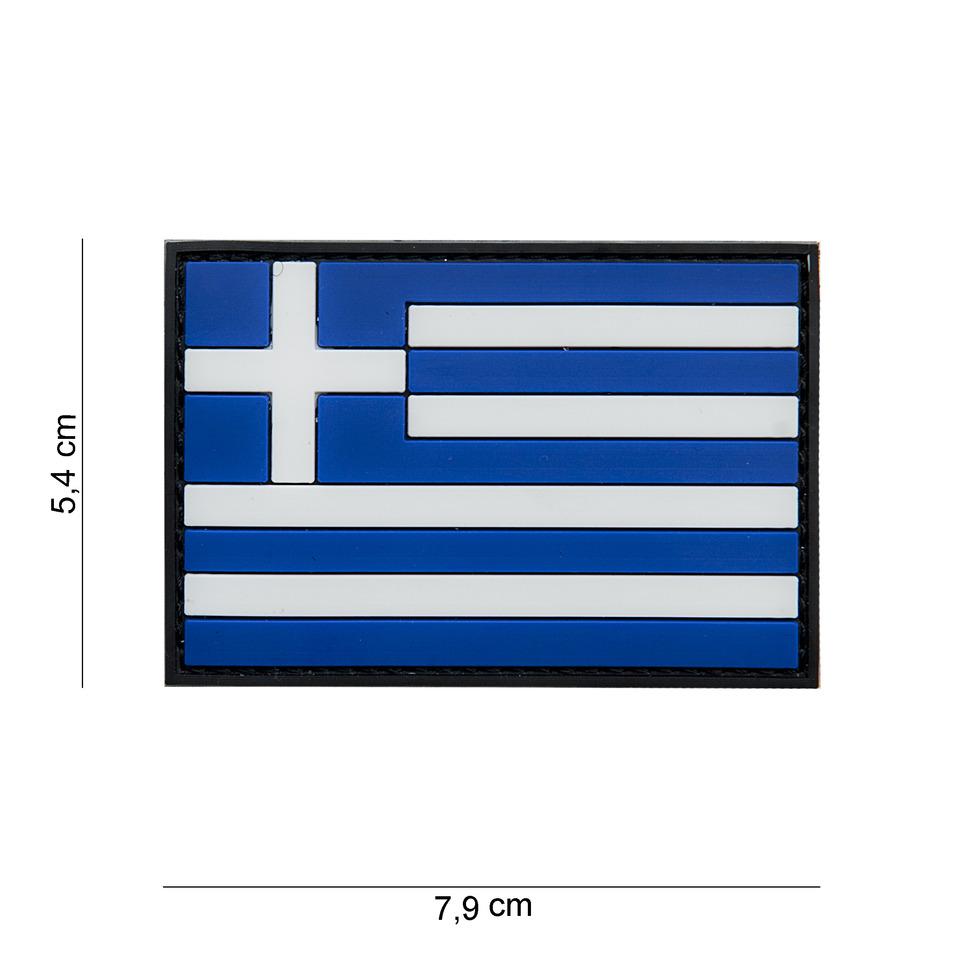 Gumová nášivka 101 Inc vlajka Řecko