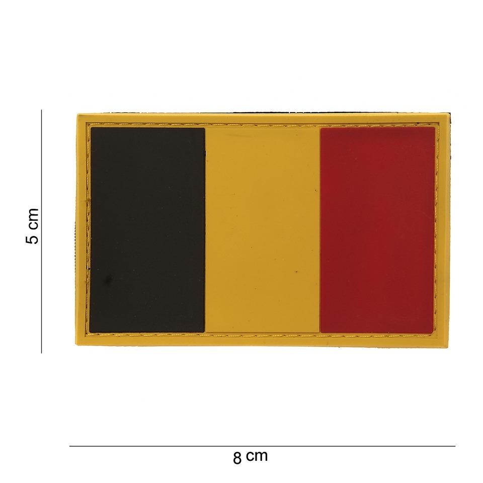 Gumová nášivka 101 Inc vlajka Belgie
