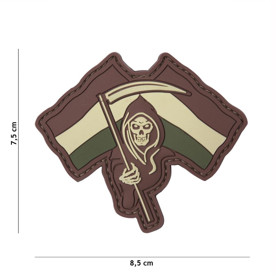 Gumová nášivka 101 Inc vlajka Dutch Reaper - hnědá