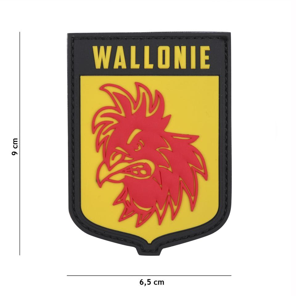 Gumová nášivka 101 Inc vlajka Wallonie - žlutá
