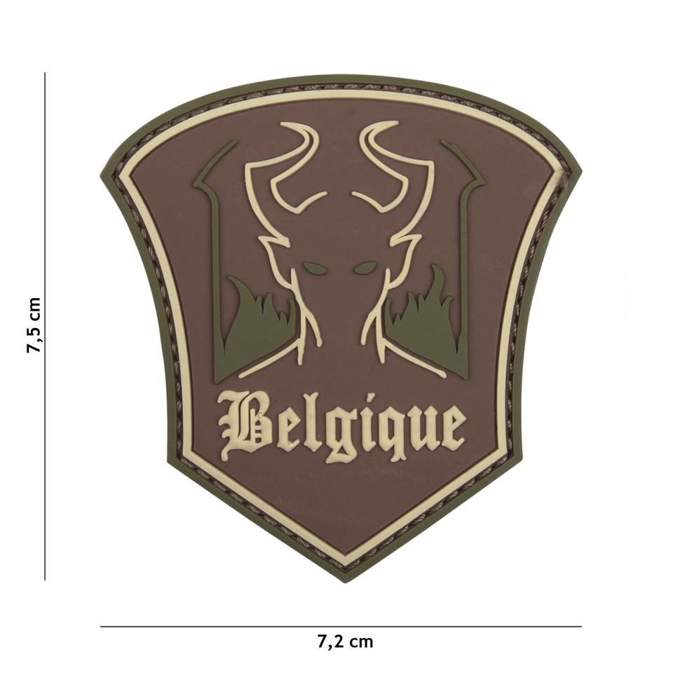 Gumová nášivka 101 Inc Belgique Devil - multicam