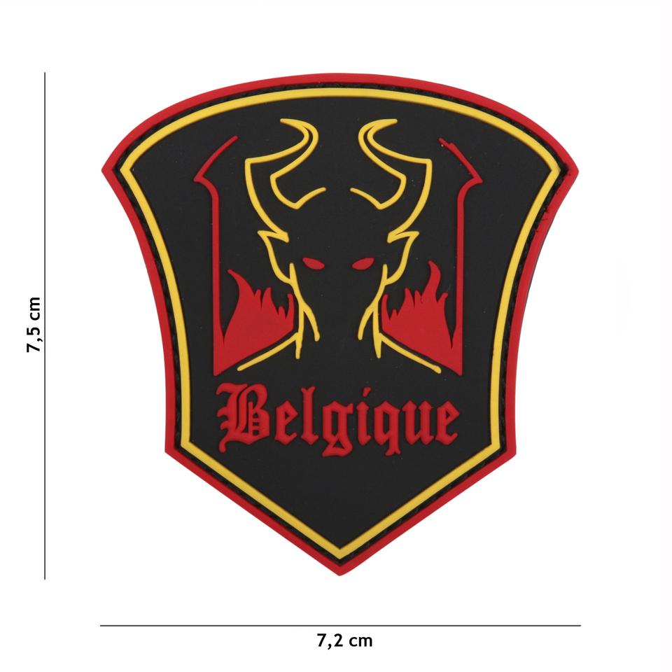 Gumová nášivka 101 Inc Belgique Devil