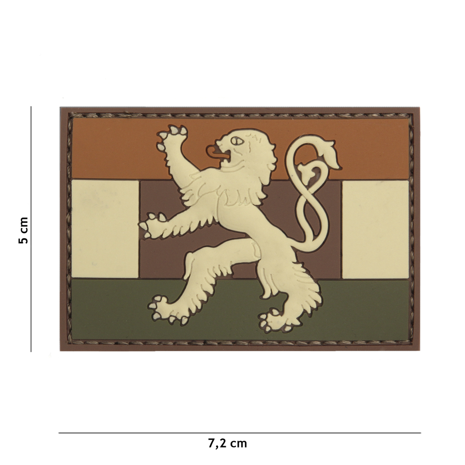 Gumová nášivka 101 Inc vlajka Benelux - multicam