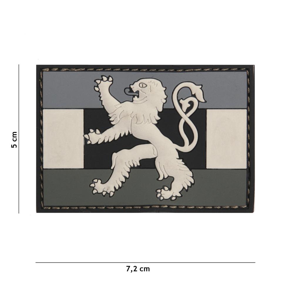 Gumová nášivka 101 Inc vlajka Benelux - šedá