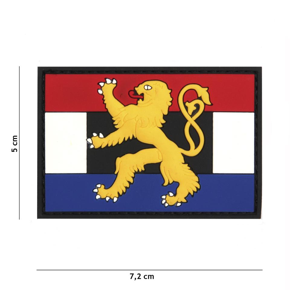 Gumová nášivka 101 Inc vlajka Benelux