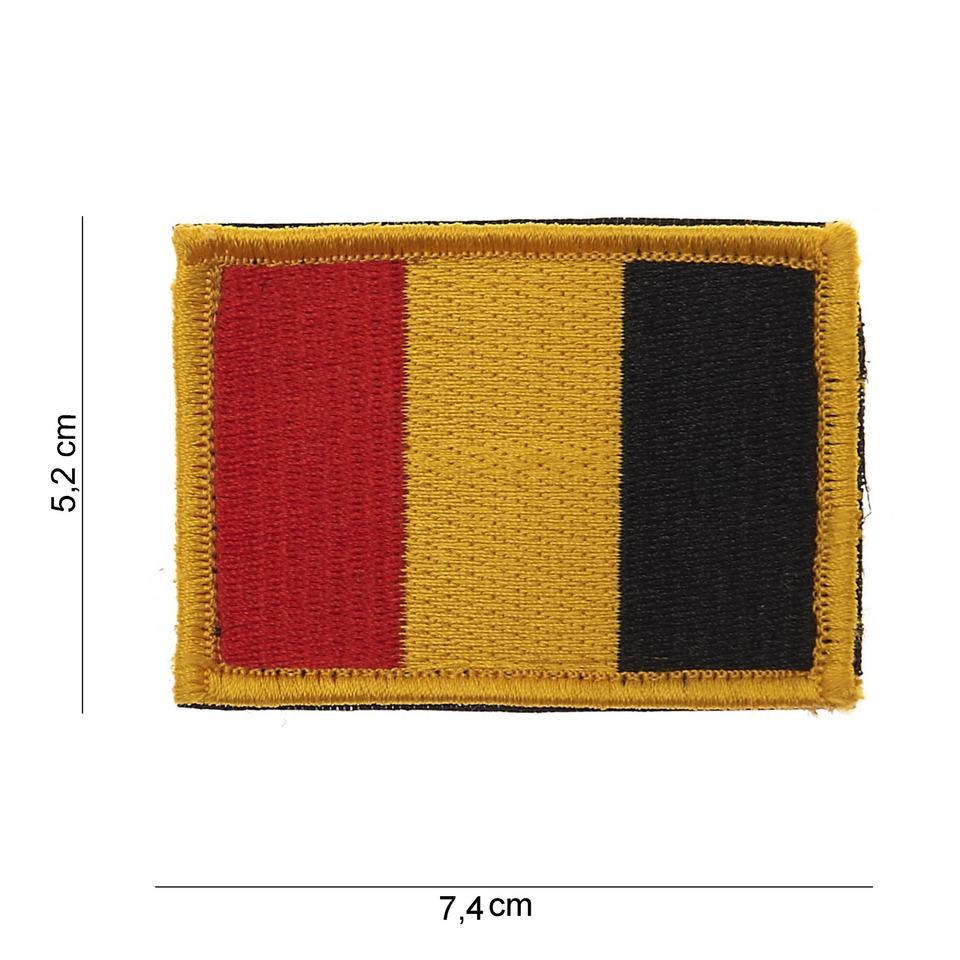 Nášivka textilní 101 Inc vlajka Belgie Velcro