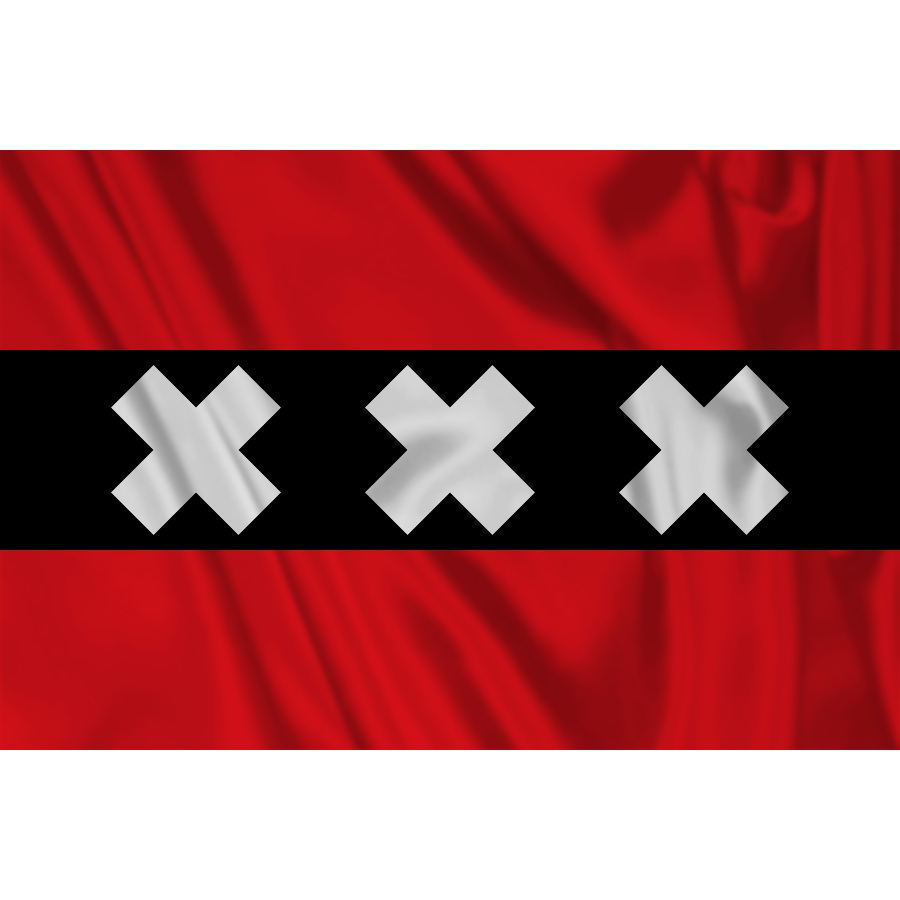 Vlajka Fostex Amsterdam 1,5x1 m