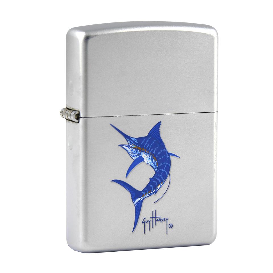 Zapalovač Zippo 0303 Blue Marlin - stříbrný