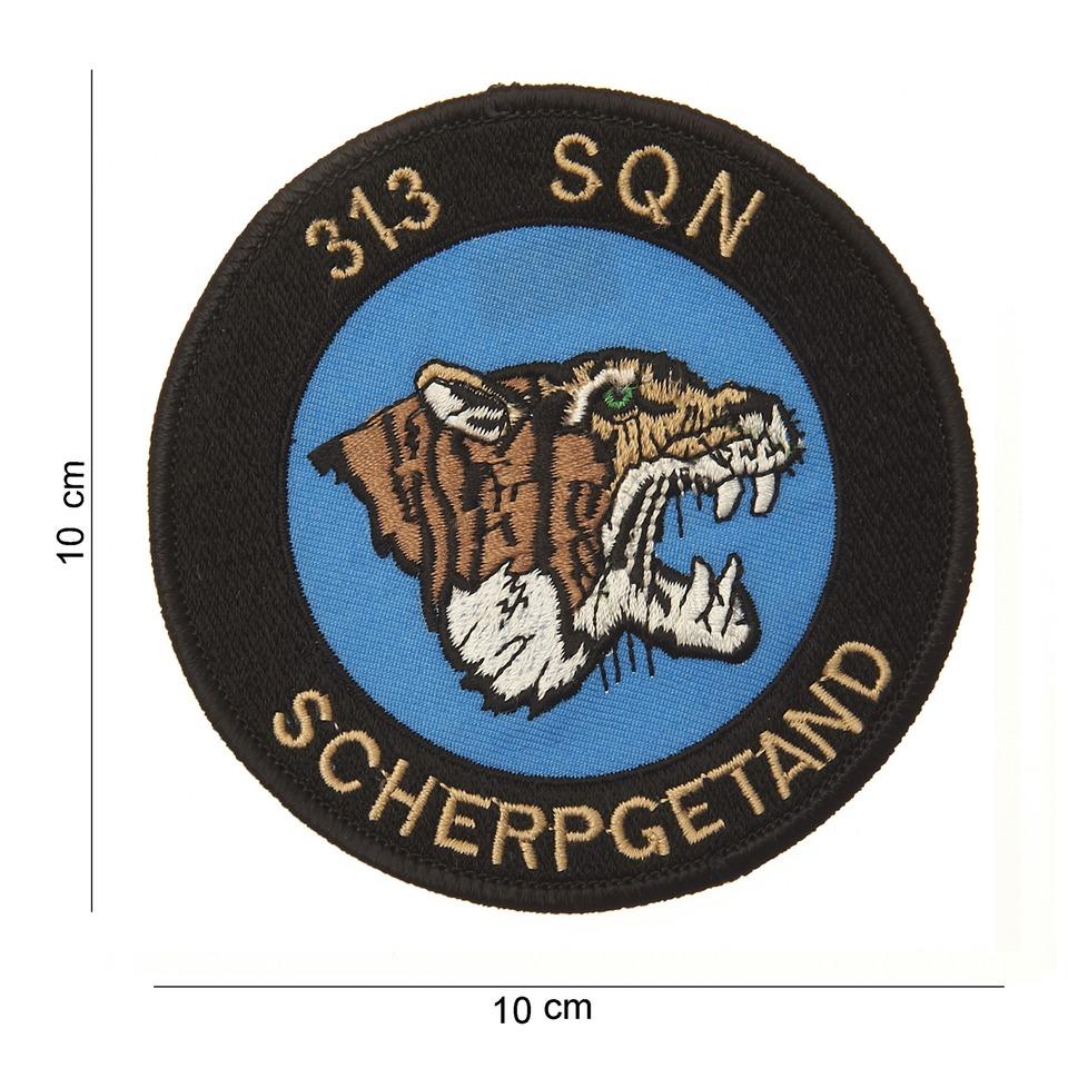 Nášivka textilní 101 Inc 313 SQN Scherpgetand